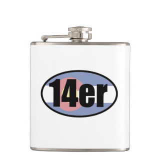 14er Flag Hip Flask