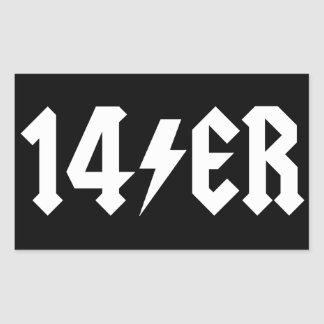 14er rectangular sticker
