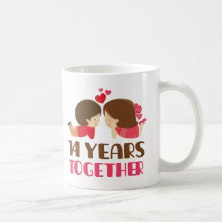 14th Anniversary Gift For Her Classic White Coffee Mug