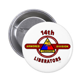14TH ARMORED DIVISION LIBERATORS WW II BUTTONS