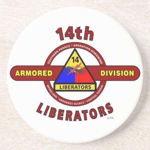 "14TH ARMORED DIVISION ""LIBERATORS"" WW II COASTERS"