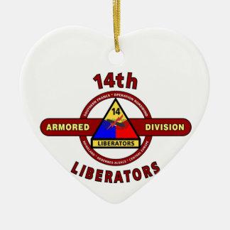 "14TH ARMORED DIVISION ""LIBERATORS"" WW II CHRISTMAS TREE ORNAMENTS"