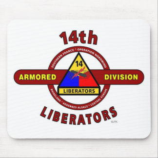 """14TH ARMORED DIVISION """"LIBERATORS"""" WW II MOUSEPADS"""