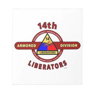"14TH ARMORED DIVISION ""LIBERATORS"" WW II MEMO NOTEPAD"