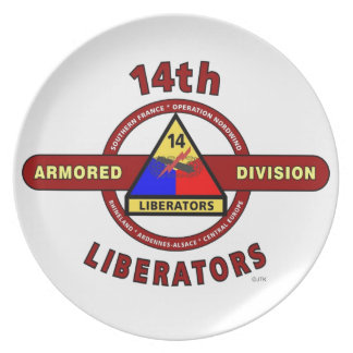 "14TH ARMORED DIVISION ""LIBERATORS"" WW II PLATE"