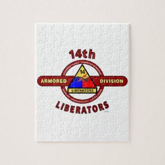"""14TH ARMORED DIVISION """"LIBERATORS"""" WW II PUZZLE"""