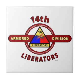 "14TH ARMORED DIVISION ""LIBERATORS"" WW II CERAMIC TILES"