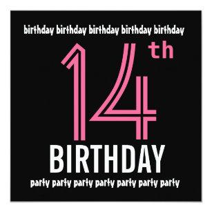 14th Birthday Invitations Announcements Zazzlecomau
