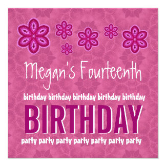 Girls 14th Birthday Party Gifts - T-Shirts, Art, Posters & Other Gift ...