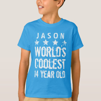 14th Birthday World's Coolest 14 Year Old Teal Z14 T-Shirt