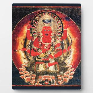 14th century Buddhist Aizen Myoo Painting Plaque