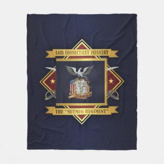 14th Connecticut Volunteer Infantry Fleece Blanket