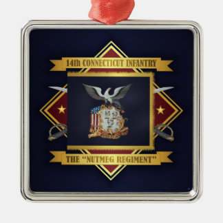 14th Connecticut Volunteer Infantry Metal Ornament