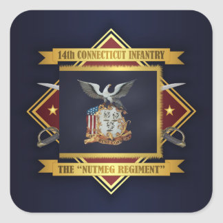14th Connecticut Volunteer Infantry Square Sticker