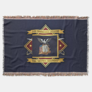 14th Connecticut Volunteer Infantry Throw Blanket
