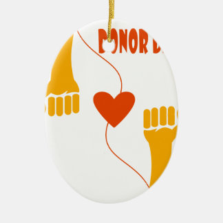 14th February - Donor Day - Appreciation Day Ceramic Ornament