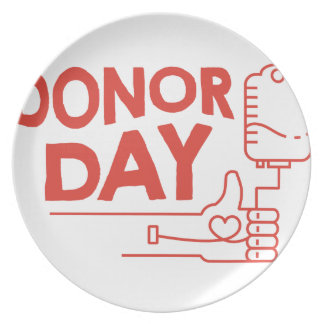 14th February - Donor Day - Appreciation Day Plate