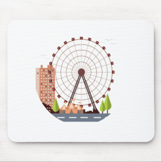 14th February - Ferris Wheel Day Mouse Pad