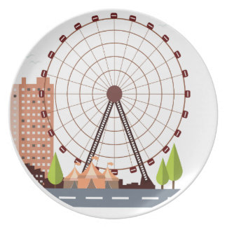 14th February - Ferris Wheel Day Plate