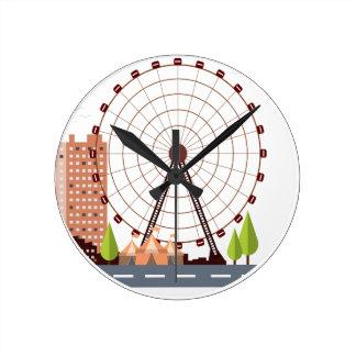 14th February - Ferris Wheel Day Round Clock