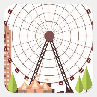 14th February - Ferris Wheel Day Square Sticker