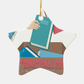 14th February - International Book Giving Day Ceramic Ornament