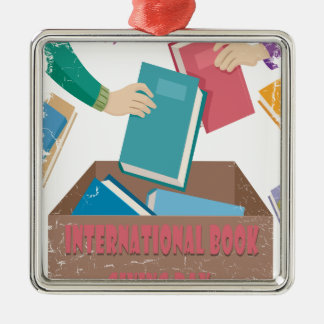 14th February - International Book Giving Day Metal Ornament