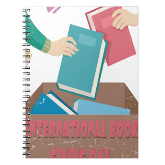 14th February - International Book Giving Day Spiral Notebooks