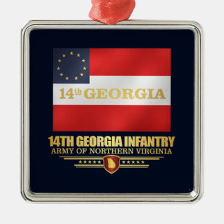 14th Georgia Infantry Metal Ornament