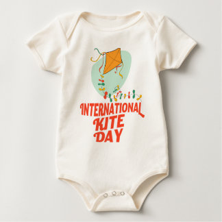 14th January - International Kite Day Baby Bodysuit