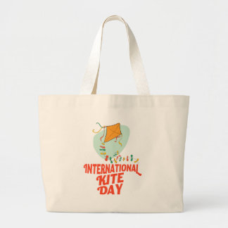14th January - International Kite Day Large Tote Bag
