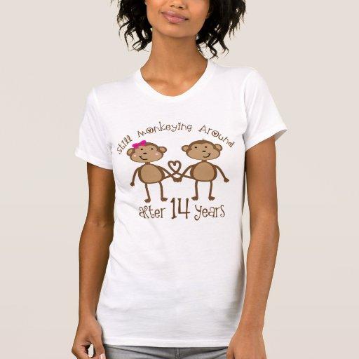 14th Wedding Anniversary Gifts Tshirts