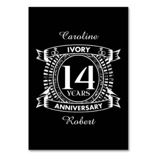 14TH wedding IVORY anniversary Card