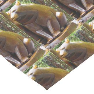 """14x72"""" Table Runner Bears Animal Statue New York"""