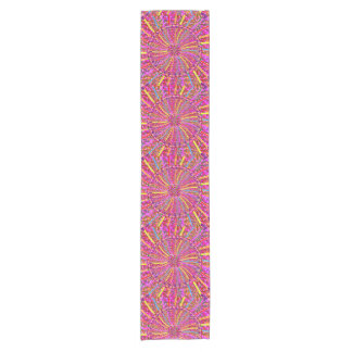 """14x72"""" Table Runner Flowers Colorful graphic pink"""