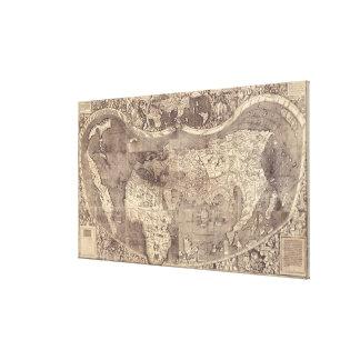 1507 Martin Waldseemuller World Map Canvas Print