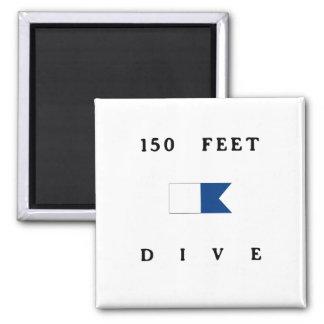 150 Feet Alpha Dive Flag Square Magnet