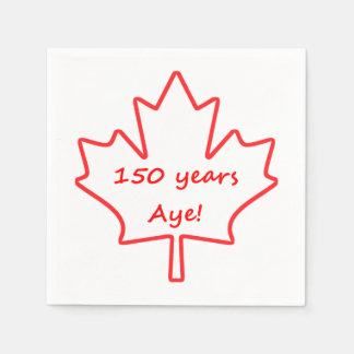 150 Years of Canada Disposable Napkin