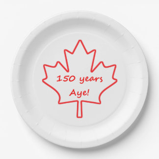 150 years of Canada Paper Plate