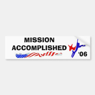 150px-Democratslogo.svg, FLAG2, FLAG2, MISSION ... Bumper Sticker