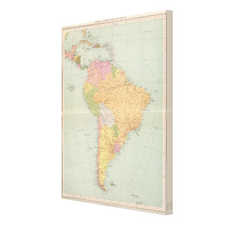15152 South America political Canvas Print