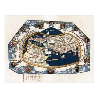 1535 World Map Postcard
