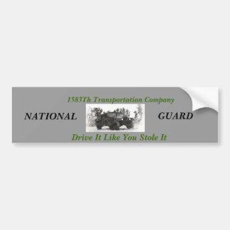 1538th transportation company bumper sticker