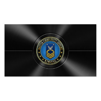 [154] CG: Master Chief Petty Officer (MCPO) Pack Of Standard Business Cards