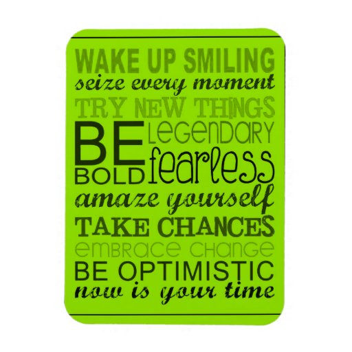 1555 ENCOURAGING MOTTOS WAKE UP SMILING EXPRESSION RECTANGLE MAGNET