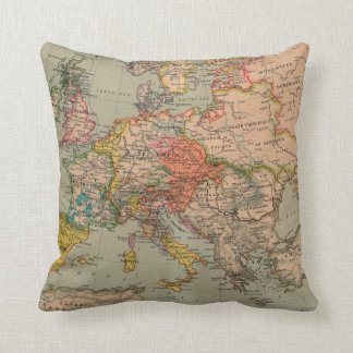 1560 Europe - Throw Pillow