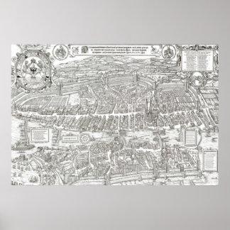 1576 Map of Zurich Switzerland Poster