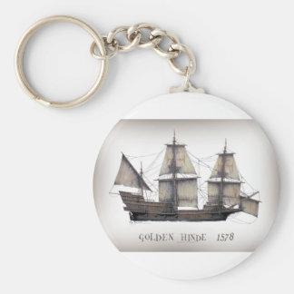 1578 Golden Hinde Key Ring