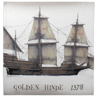1578 Golden Hinde Napkin