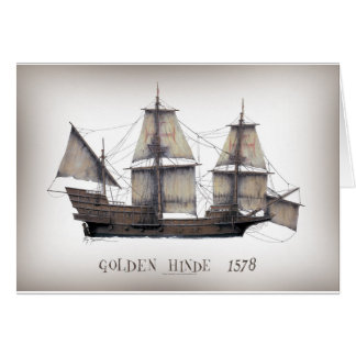 1578 Golden Hinde ship Card